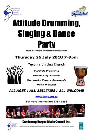 Attitude Drumming and Singing Party 2018 Flyer thumbnail