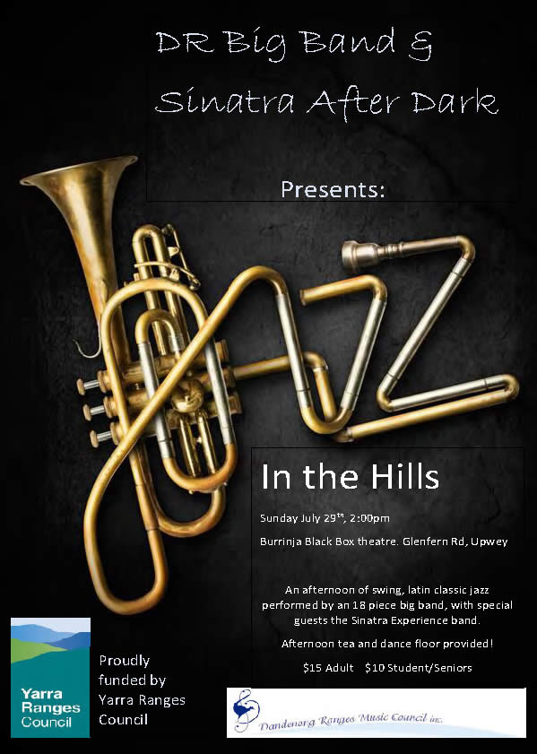 DR Big Band flyer Jazz in the Hills