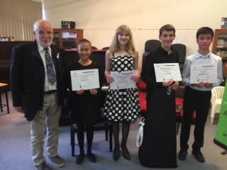 Youth Music Awards 2017 - Prize Winners with YRC Mayor Noel Cliff