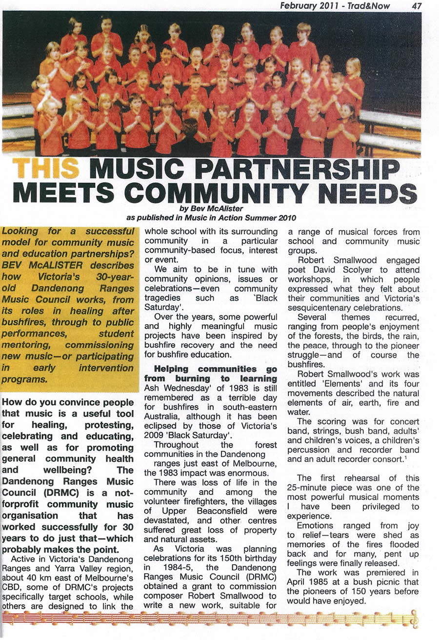 Music partnership article Bev McAlister Feb 2011